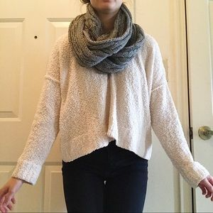 Metallic silver Infinity scarf by New York & Co